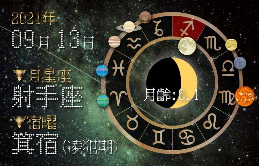 【2021年9月13日】今日の運勢「いいとこ取りで運勢アップ(星座占い・宿曜・西洋占星術・旧暦)」