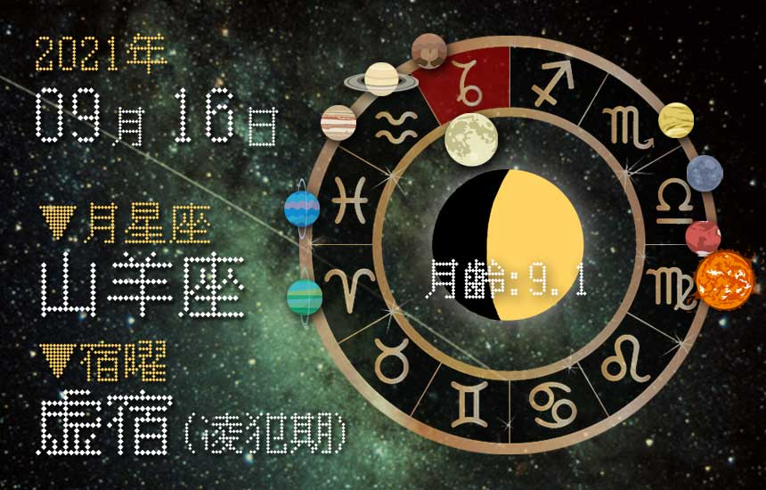 【2021年9月16日】今日の運勢「いいとこ取りで運勢アップ(星座占い・宿曜・西洋占星術・旧暦)」