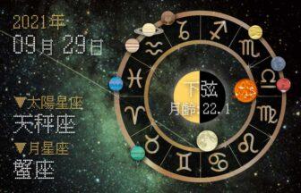 【2021年9月29日】今日の運勢「いいとこ取りで運勢アップ(星座占い・宿曜・西洋占星術・旧暦)」