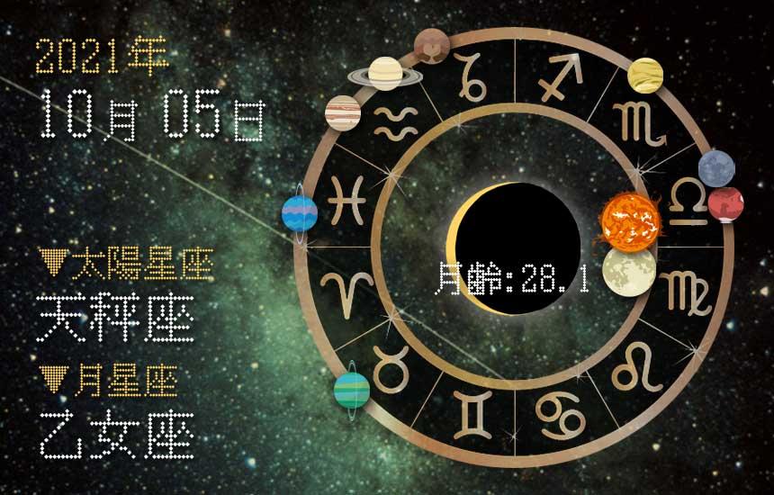 【2021年10月5日】今日の運勢「いいとこ取りで運勢アップ(星座占い・宿曜・西洋占星術・旧暦)」