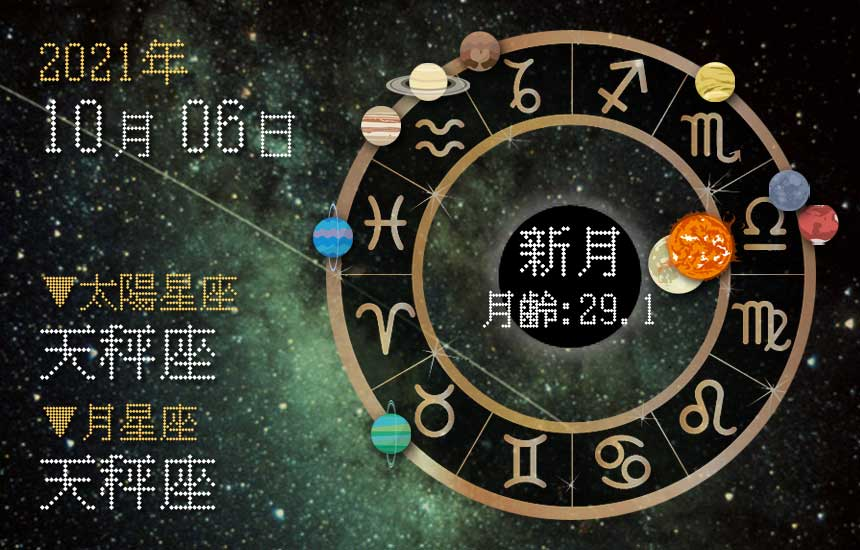 【2021年10月6日】今日の運勢「いいとこ取りで運勢アップ(星座占い・宿曜・西洋占星術・旧暦)」